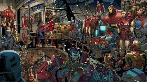 Anthony_Stark_(Earth-1610)_and_his_armors
